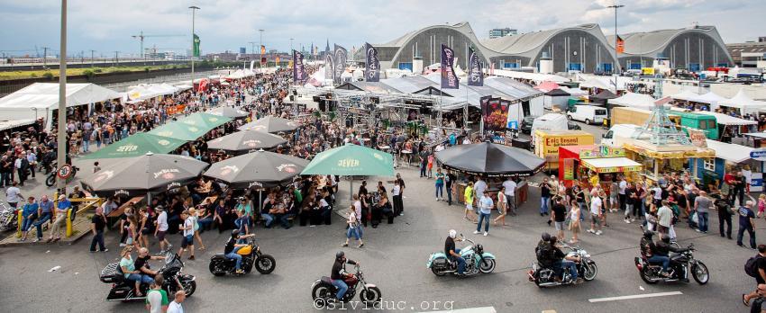 Hamburg Harley Days 2014, Harley Davidson Motorradtreffen, Motorradfestival, Volksfest, Grossmarkt Hamburg, Uebersicht,