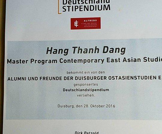 Deutschlandstipendium_Thanh Hang
