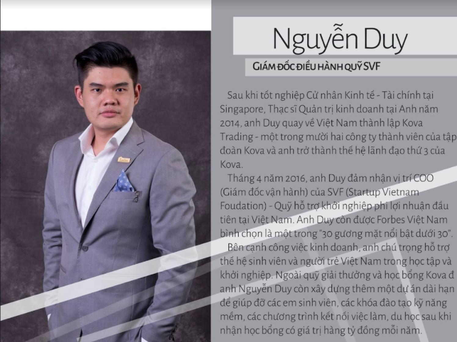 Giám Đốc Điều Hành SVF - Nguyễn Duy