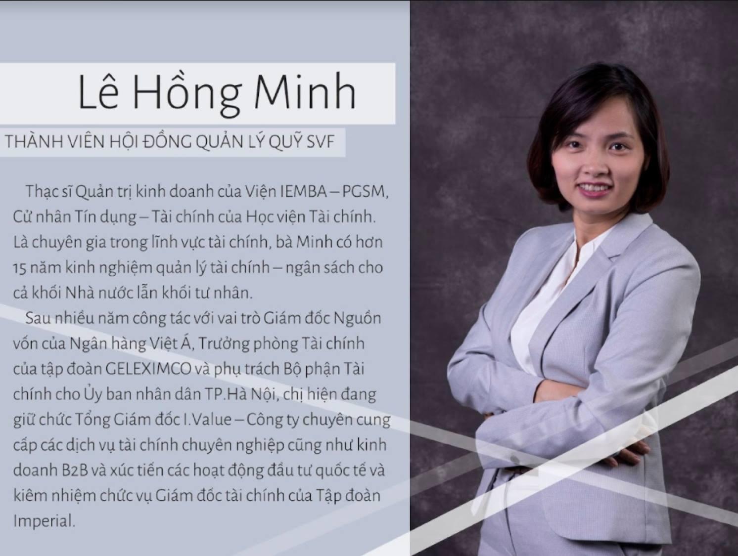 Thành Viên Hội Đồng Quản Lý Quỹ SVF Lê Hồng Minh