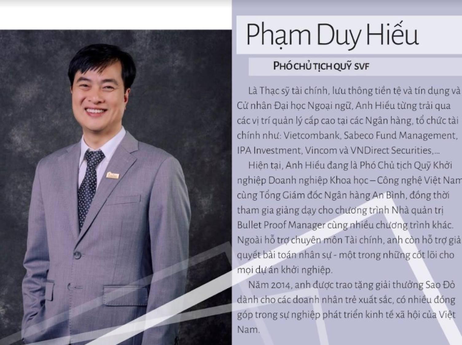 Diễn Giả Phạm Duy Hiếu - Phó Chủ Tịch SVF